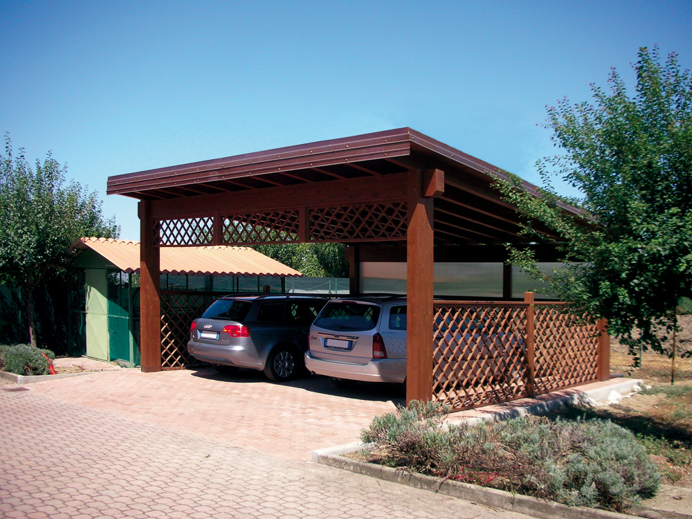 Tettoie per auto gallery of tettoie per auto with tettoie for Costo per costruire 3 box auto indipendenti