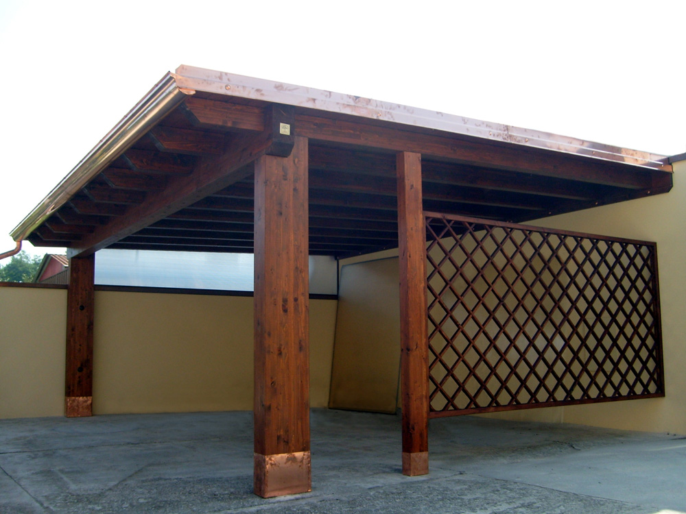 Porticato in legno, porticati con colonne su misura e senza opere ...