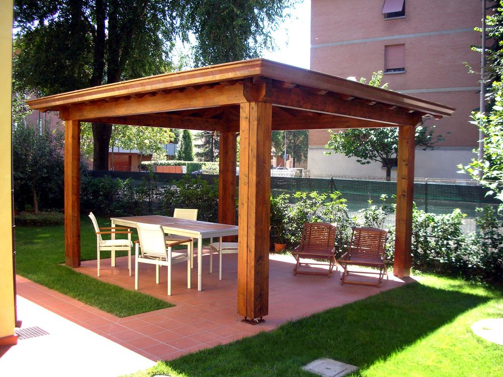 Eccellente copertura pergolato in legno eb19 pineglen - Mobile terrazzo legno ...